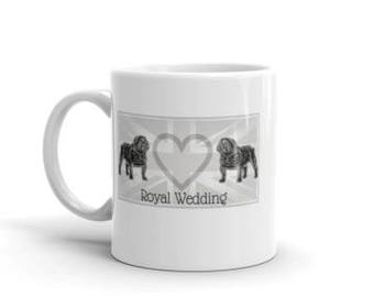 A Bulldog Royal Wedding Mug