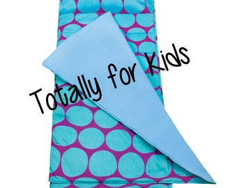 Monogrammed Nap Mat Roll Up Nap Mat Daycare Nap Mat Personalized Sleep Mat Kindergarten Nap Sack Preschool Nap Pad with Pillow Big Dots Aqua