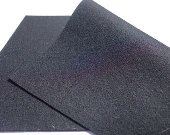 "100% Wool Felt Sheet in Color BLACK - 18"" X 18"" Wool Felt Sheet - Merino Wool Felt - European Wool Felt"