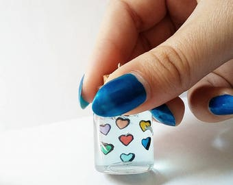Undertale - Souls - Glass Bottle - Polymer clay - Charm - Handmade- ( Inspired)