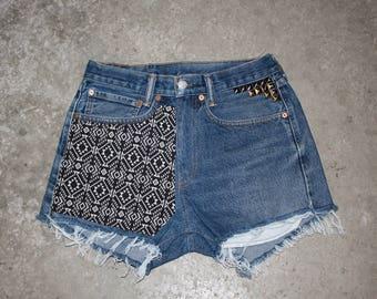 Custom High Waisted Vintage Short size 30 or 31