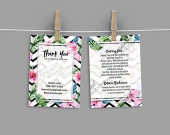 Custom Care Card / Thank You Card - chevron