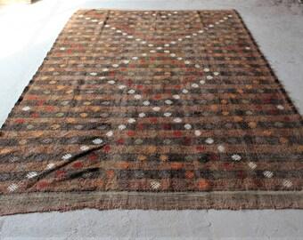 7'6''x11'2'' Vintage Turkish Kilim, Large Kilim Rug, Anatolian Traditional Kilim, Kilim Rugs, Original Kilim, Pastel Kilim, Decorative Kilim