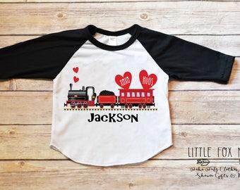 Valentines Shirt, Boys Valentine Shirt, Valentines Day Shirt, Kids Valentine Shirt, Valentine Train, Boy Valentine, Valentines Shirt