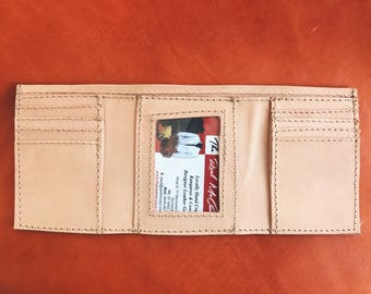 Handcrafted Tri-Fold Kangaroo Leather Wallet- Made in Australia