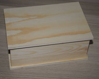 Sweet raw blank wooden box
