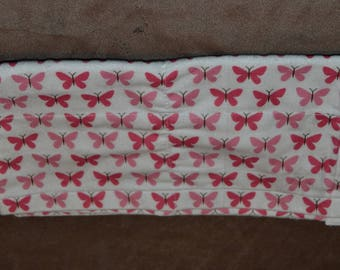 Burp Cloth with Pink Butterflies