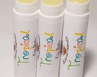 Tropical Flavoured Lip Balm, Vegetarian, 4.3g tube