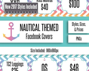 Nautical Facebook Album Covers | Styles, Prices, and Sizes | New Styles Included