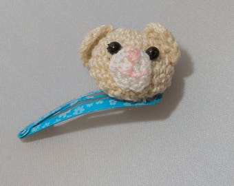 Teddy bear hair clip