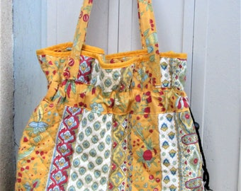 French Provence Bag, cloth sacks, beach bags, baby bags, drawstring sacks, colorful bags