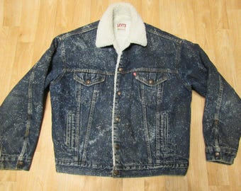 Vintage Levis Sherpa Jacket Large denim USA