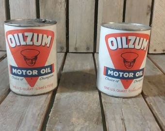 Oilzum Oil Can, Vintage Oil Can, Metal Oil Can, Old Oil Cans, Oil Advertising, Movie Props, Photo Shoot, Vintage Can, Metal Can