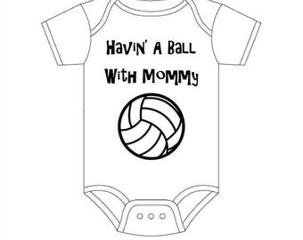 Volleyball Baby Clothes-Baby Girl Volleyball-Sports Baby Clothes-Volleyball Infant-Personalized Baby Clothes - Custom Baby Clothes
