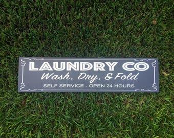 Laundry Room Sign/ Fixer Upper Sign/ Laundry Room Decor/ Black