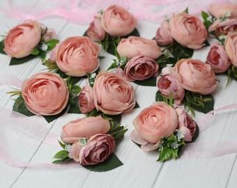 Blush pink Wrist corsage peony flower Corsage, Blush Wrist Corsage, Bridal Bracelet, Peony Flower brcelet flower Girl Corsage Bridesmaid