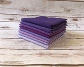 Fat Quarter Bundle, Fabric Bundles, Purple Fabric, Solid Fabric, Quilting Solids, Fabric by the Yard, Sewing