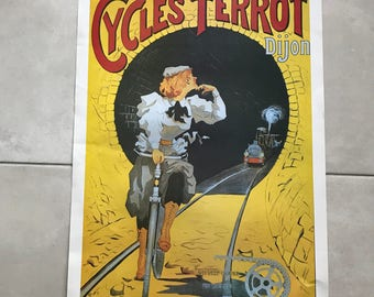 Vintage French Poster for cycle Dijon 17011813