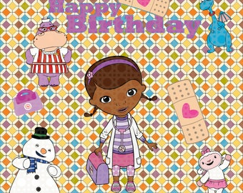 Easy cut and assemble multilayered Doc McStuffins inspired  theme SVG , DXF - doc mcstuffin'sSVG -  for Silhouette Cameo or Cricut