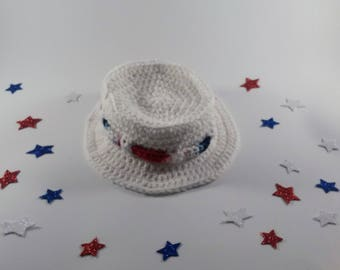 White Bucket Hat, Fourth of July Hat, Baby Bucket Hat