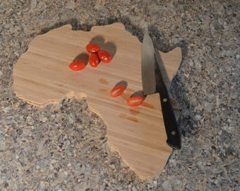 Bamboo Africa Cutting Board