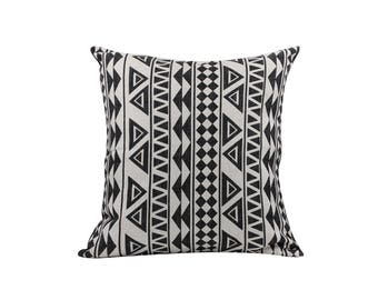 Aztec decorative pillow covers Ethnic throw pillow covers Navajo pillow case Black cushion covers Sofa accent pillows Home decor gift 18x18