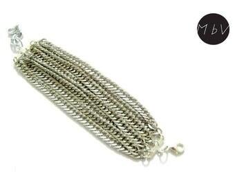 Elegant Massive Fashion Style Bracelet with 8 Metal Chains