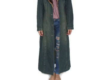 Long denim coat | Etsy