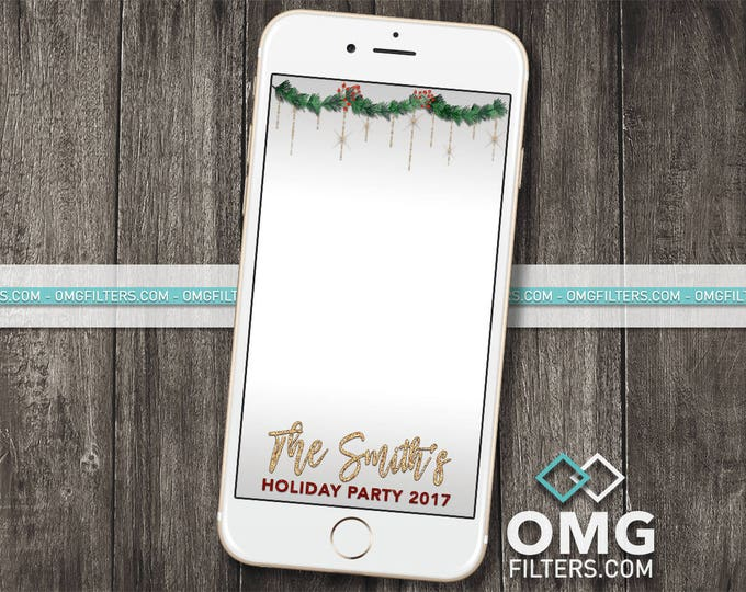 Holiday Party 1 - Custom Snapchat Geofilter - Christmas Party, Company / Business Party, Any Wording!