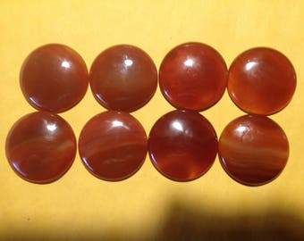 Carnelian Cabochon Rounds