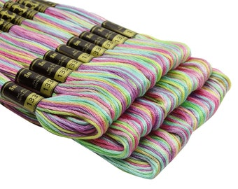 25 Anchor Multicolor #1335 Cross Stitch Cotton Embroidery Thread Floss/Skein