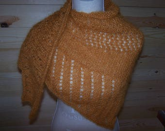 Shawl wingspan mohair acrylic apricot color