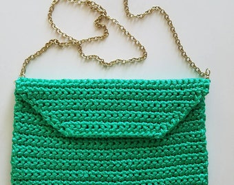 Crochet clutch handbag