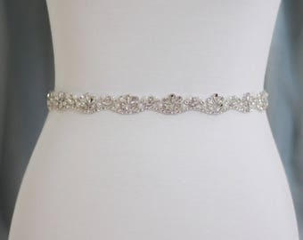 Rhinestone Wedding Belt - The Perfect Wedding Dress Belt or Formal Gown Belt