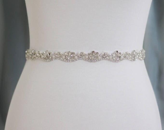 Rhinestone Wedding Belt - The Perfect Wedding Dress Belt or Formal Gown Belt