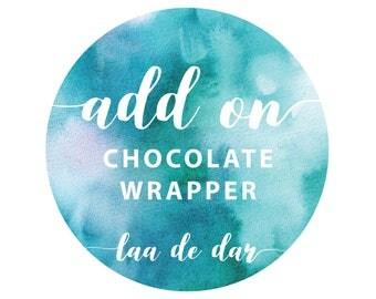 Chocolate Wrapper - Digital Files - Add On