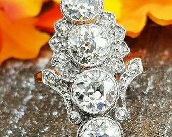 3.75ctw (est) Antique Diamond Dinner Ring