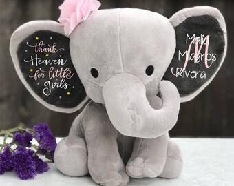 Baby shower gift etsy baby shower gift girl baby shower gift girl nursery decor personalized stuffed animal negle Images