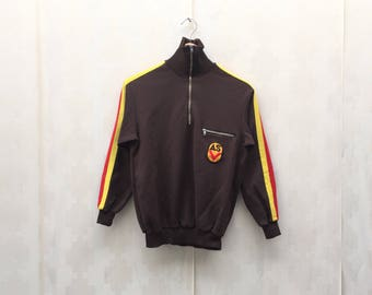 Vintage NVA ASV Logo Sweatshirt/ Half Front Zip/ Sportjacket/ Hoodie Sweatshirt/