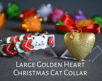 Christmas cat collar 'Christmas lollipop' cat collars with jingle bells - breakaway cat collar - luxury cat collar