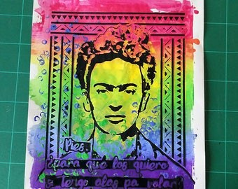 Frida Khalo Handmade mixed techniques Print
