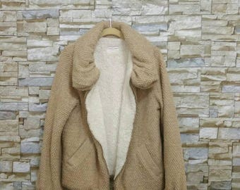 Vintage Tsumori Chisato Jacket Sherpa Lined Rare Design Fashion Japan Issey Miyake Yohji Yamamoto Comme des Garçons Junya Watanabe