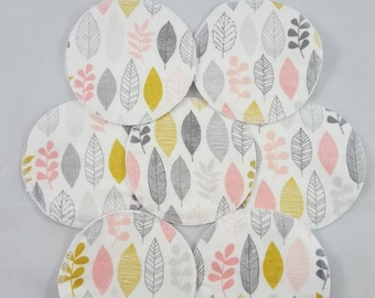 Organic Nursing Pads, Breastfeeding Pads, Cotton Flannel Breast Pads, Organic, Gift For New Mom, New Baby Gift, Reusable Pads, Hemp