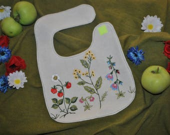 Bib for baby, to 3 months, natural