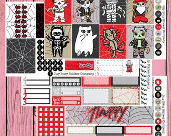 Mauly does Halloween Weekly Planner Kit
