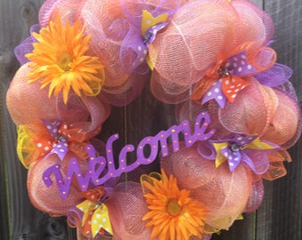 Summer Welcome wreath