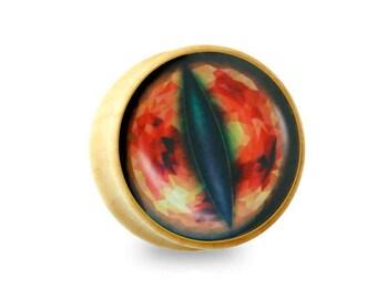 Eye of Sauron Print Organic Sono Wood Saddle Plug