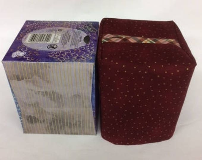 Tissue Box Cover fits a standard size tissue box,