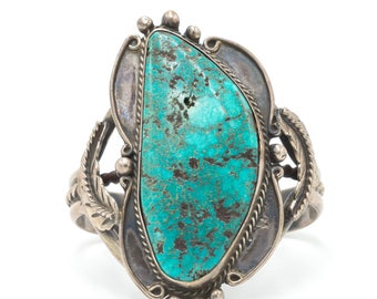 Vintage Native American Turquoise Cuff - Bracelet