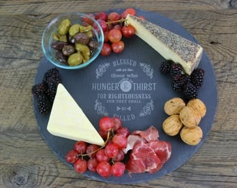 slate cheese board dessert platter engraved cheese tray charcuterie round slate cheese